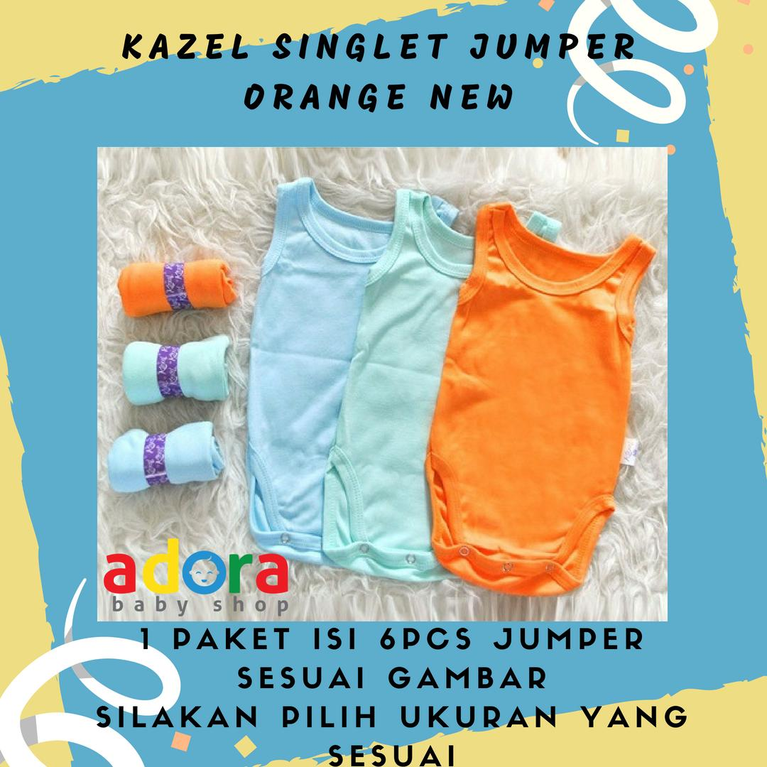 Buy Sell Cheapest Rockstar Singlet Jumper Best Quality Product Kazel 6pcs New 9 12 Bulan Bayi Modern Orange