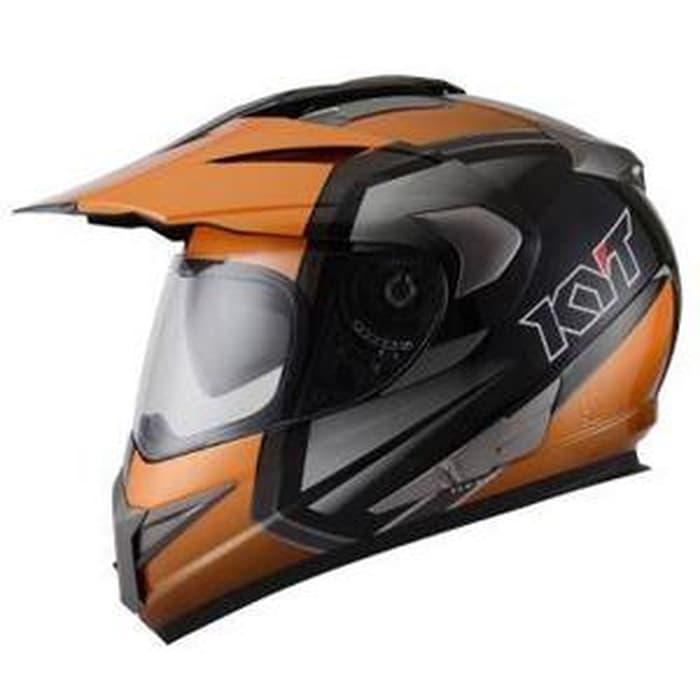 Helm KYT Enduro Supermoto Orange Fullface Super Cross
