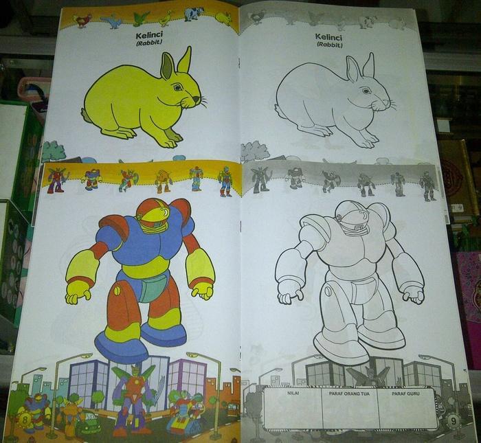 buku belajar mewarnai / Buku Anak, buku mewarnai/ Buku Anak, buku belajar Mewarnai ukuran besar - paket 4 buah