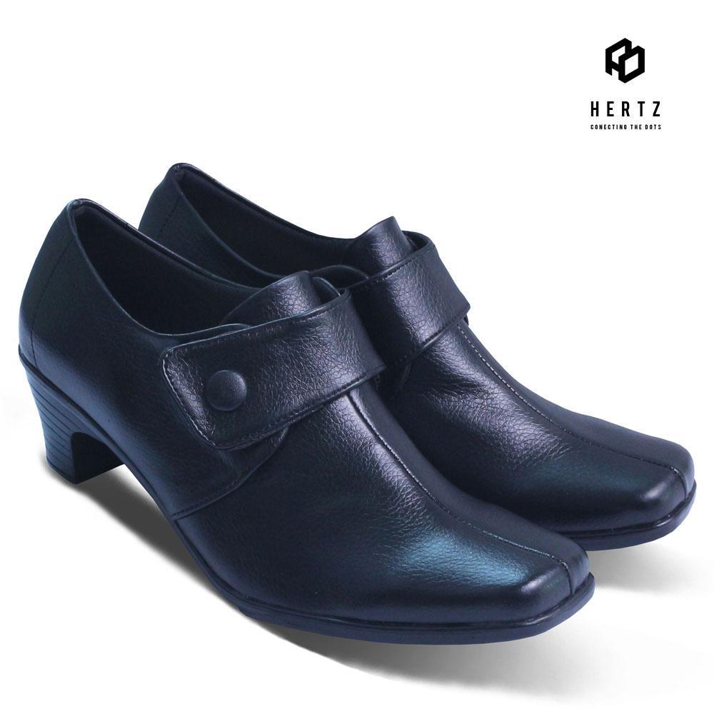 Sepatu Formal Wanita H 2135 Sepatu Pantofel Cewek Boot pakai hak tanpa tali  merk Hertz Original a73671caac