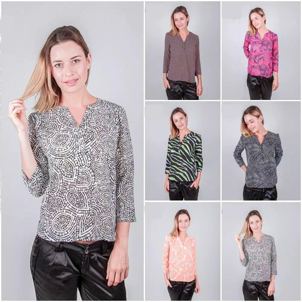 Buy Sell Cheapest Ekspor Baju Wanita Best Quality Product Deals Blouse Kantor Seen Sisa 04c