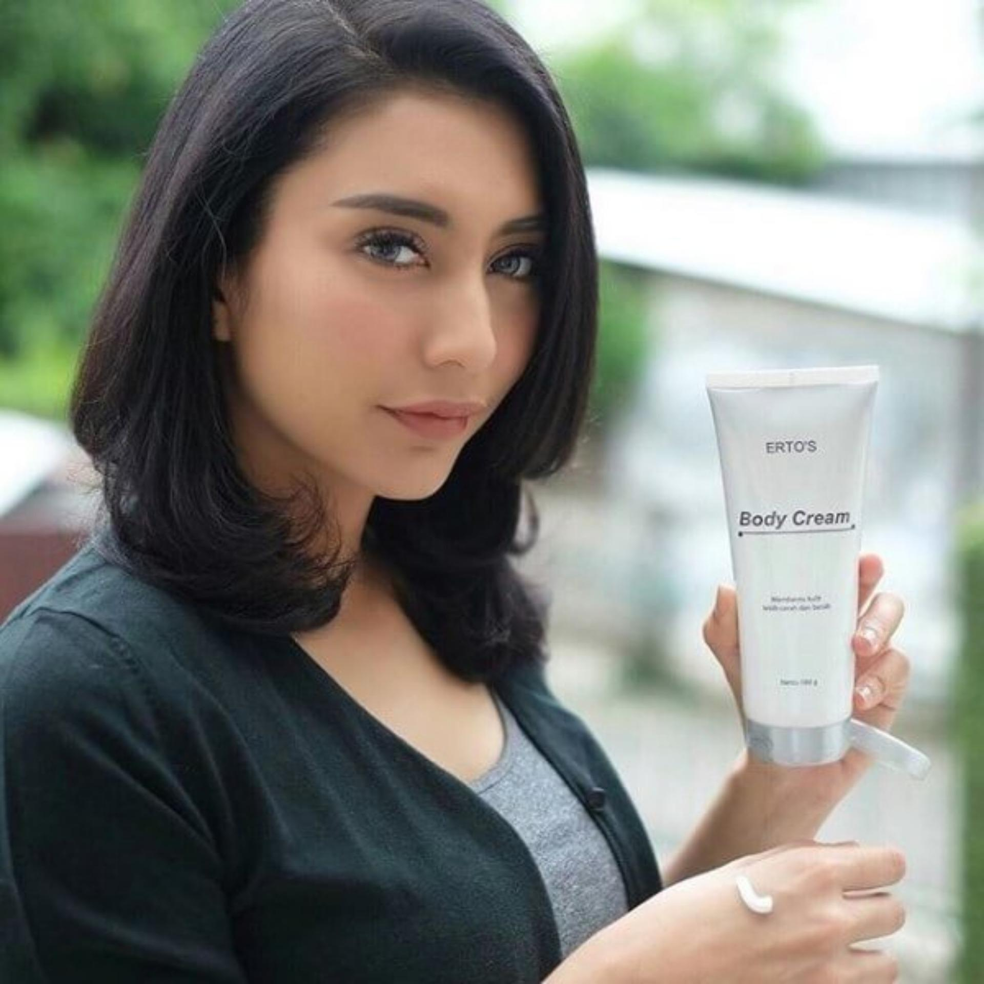 Ertos Body Cream Whitening Lotion Krim Pemutih Badan - Skincare Original BPOM