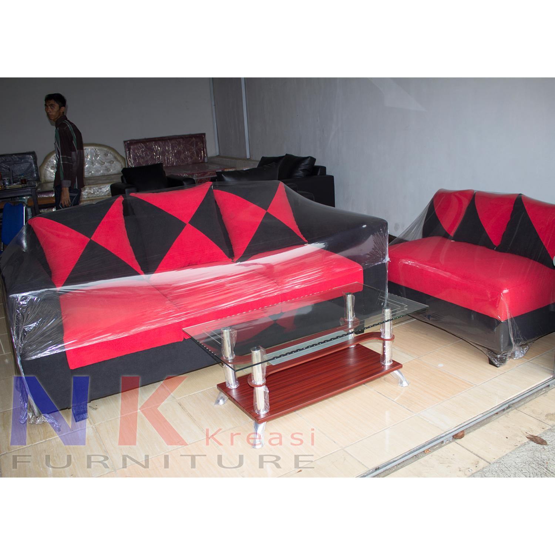 Sofa kursi Ruang Tamu L Minimalis ( sofa L sudut catur ) + MEJA TAMU - JABODETABEK ONLY