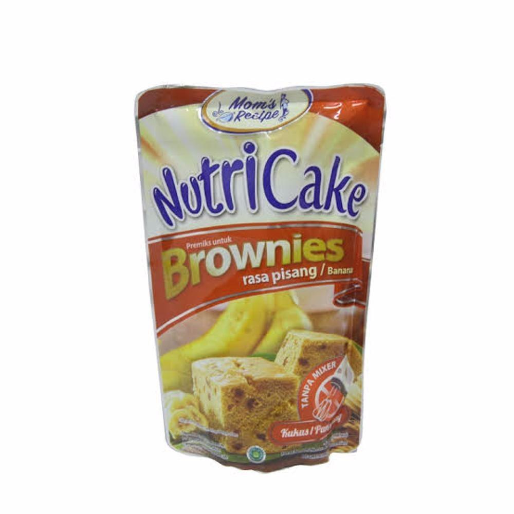NUTRICAKE BROWNIES RASA PISANG 230GR - PREMIX BANANA BROWNIE KUKUS - TEPUNG BROWNIES PANGGANG TANPA MIXER