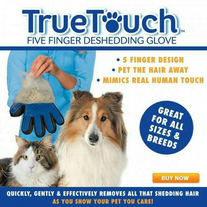 True Touch Sarung Tangan Pijat Grooming Bulu Anjing Kucing 1dce88e778