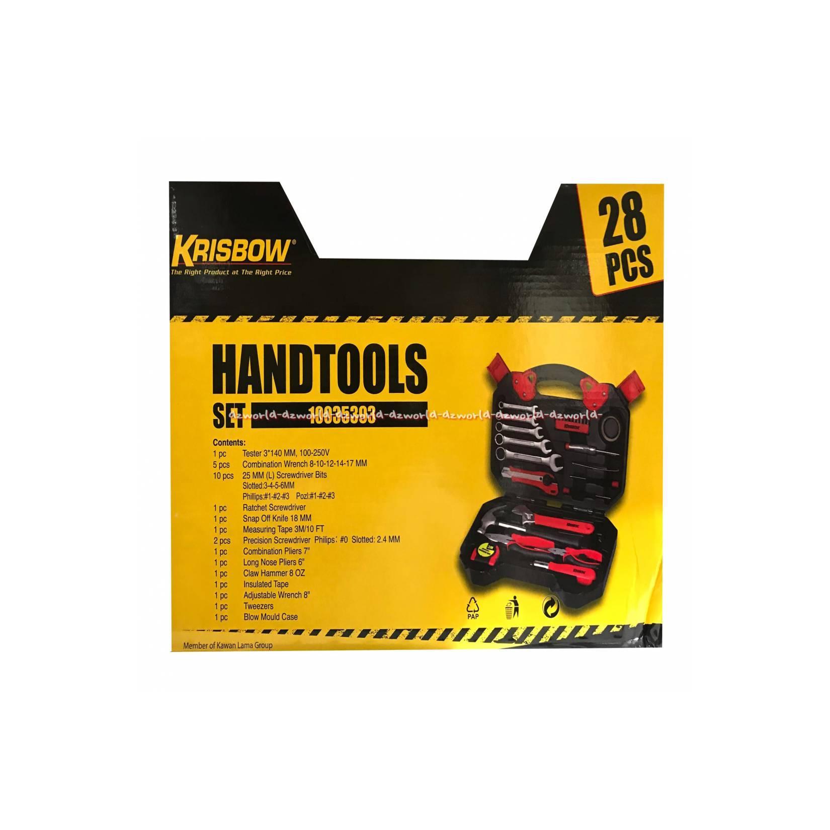 Krisbow Handtools Set 28Pcs Peralatan Mekanik Set Alat Obeng Set