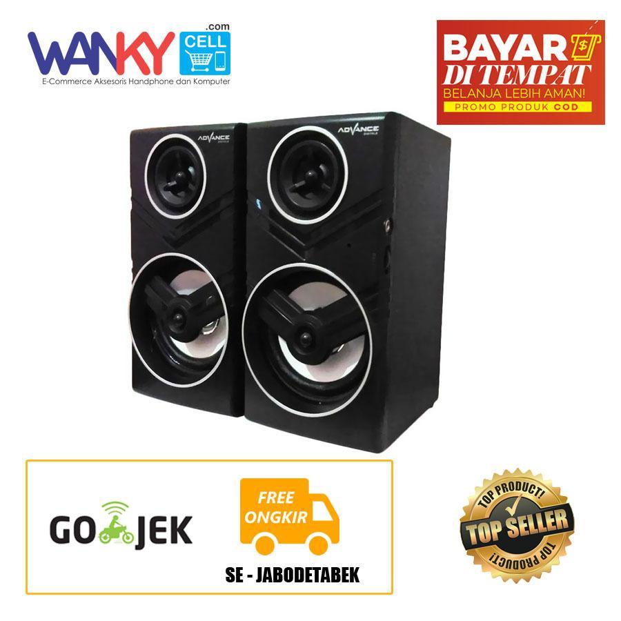 Advance Speaker Duo - 080 Portable Multimedia Speaker 2.0 With Volume Control - Hitam