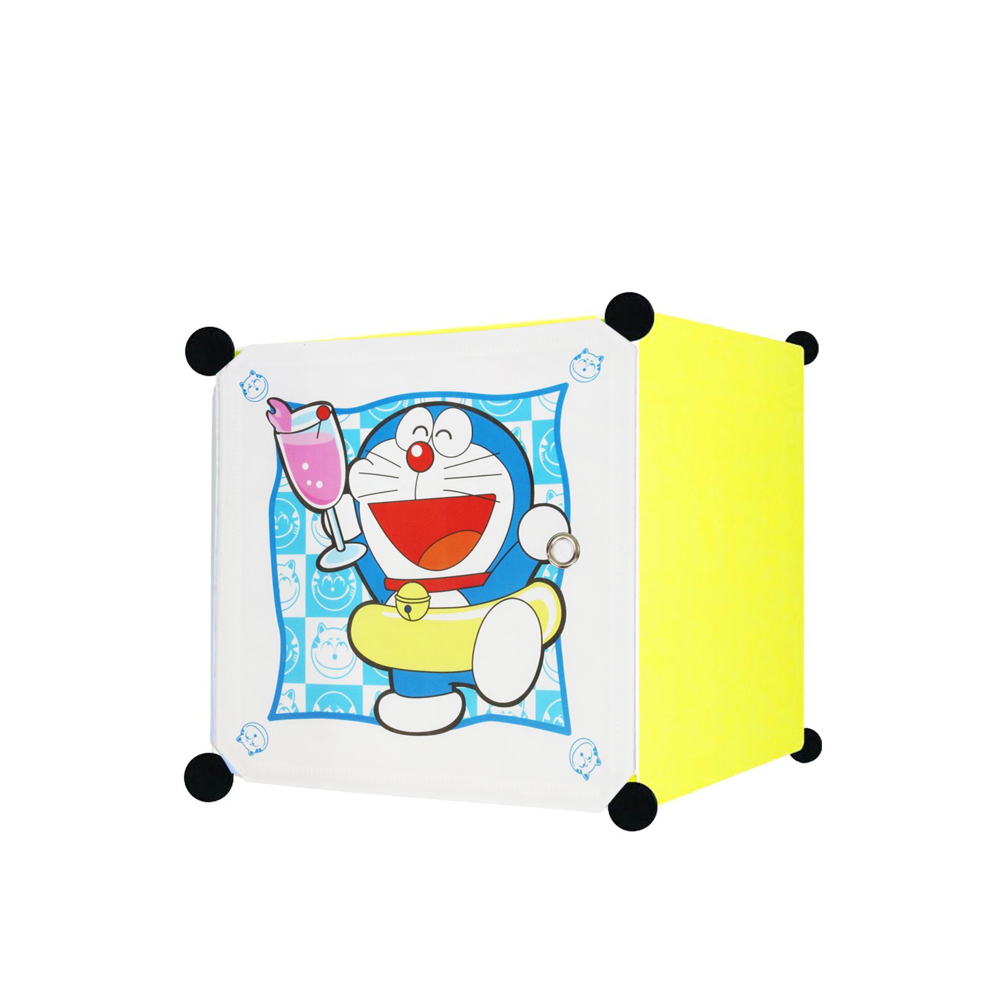Lemari Rak Sepatu 8 Tingkat 7 Sekat 21 Pasang Motif Bunga Susun Angel Pakaian Doraemons 1 Pintu Lime