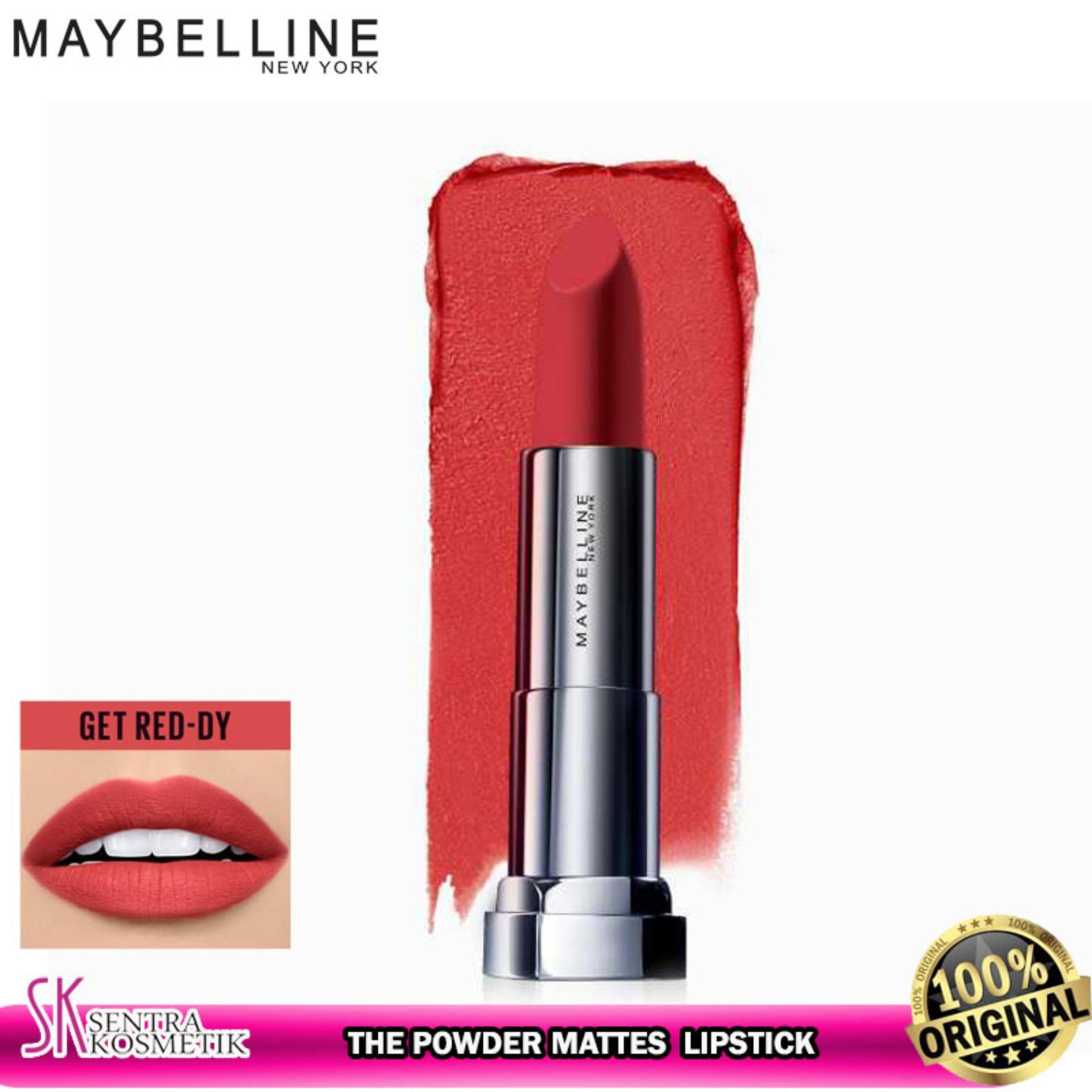 MAYBELLINE Color Sensational The Powder Mattes Lipstick GET RED DY