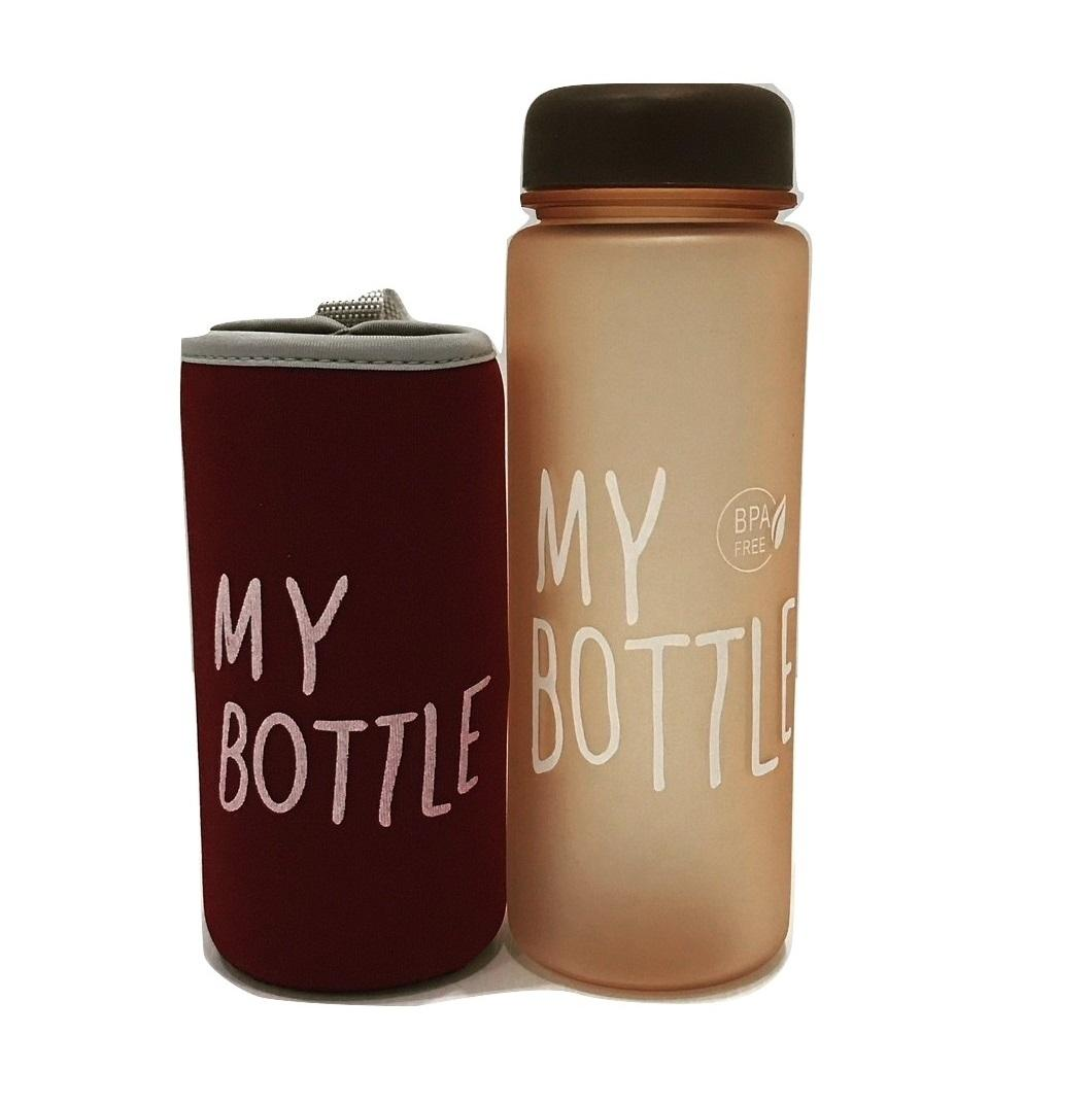 My Bottle (full Colour Doff) Botol Minum 500ml + Free Pouch Busa By Blooming_deal.