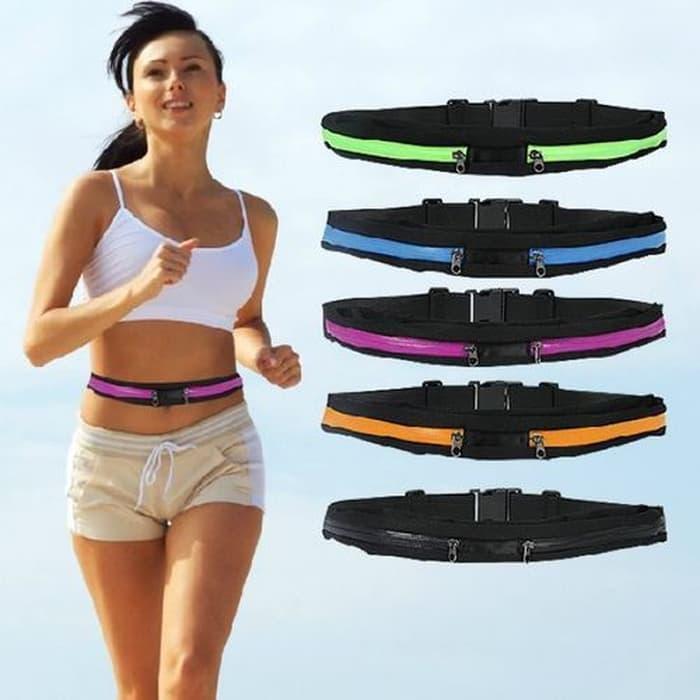 TERLARIS pocket smart belt running sport elastic lari sepeda tas ikat pinggang TERMURAH
