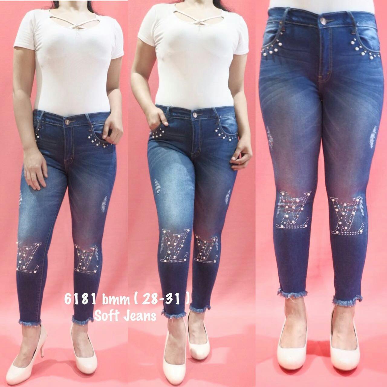 NM Jeans Mutiara Blue 2 Ukuran 27-30 Celana Panjang Soft Jeans Wanita  Elegant Exclusive 39f515069c