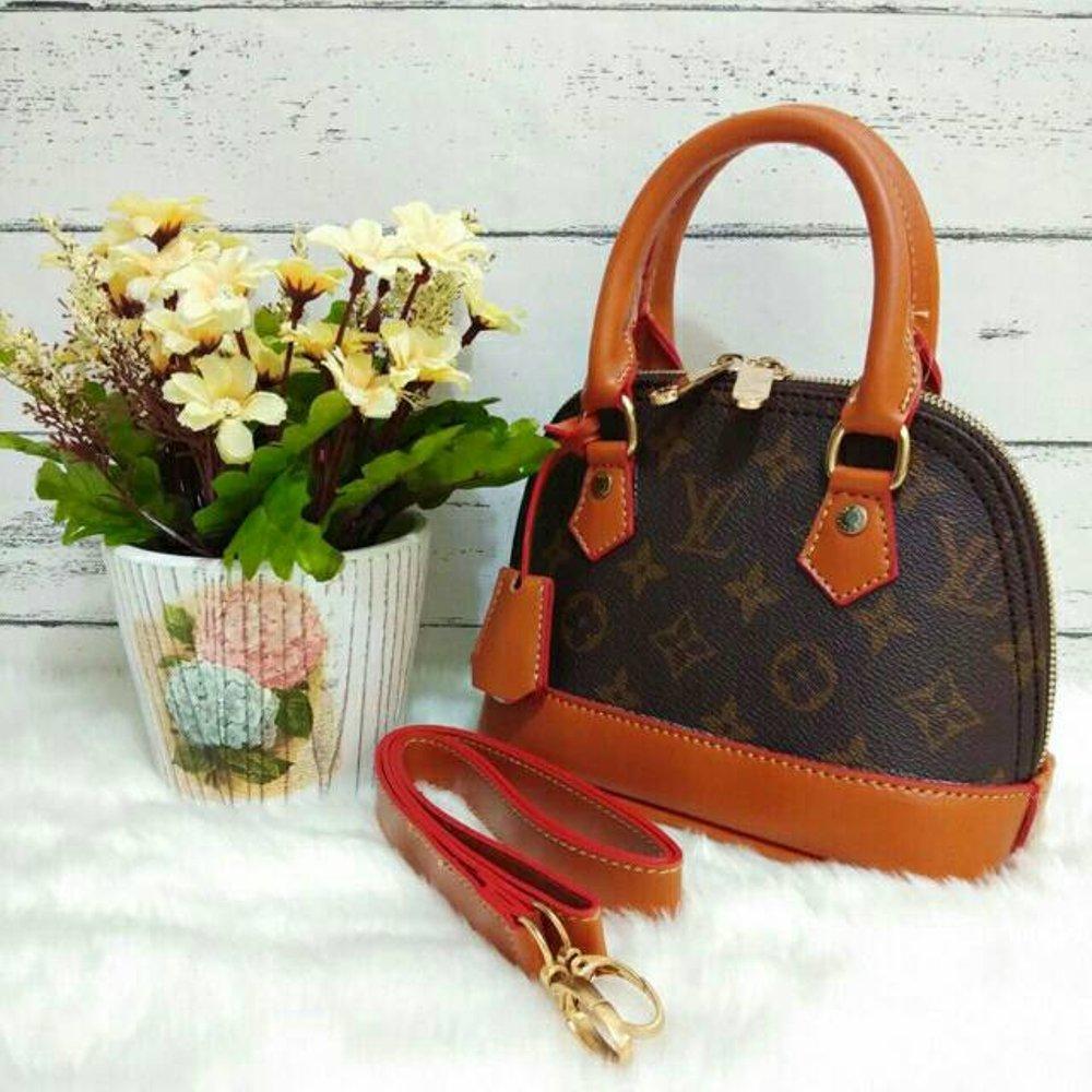 Harga Tas Wanita Selempang Import Lv Alma Mini Double Hand Bag Batam Slempang Ifc