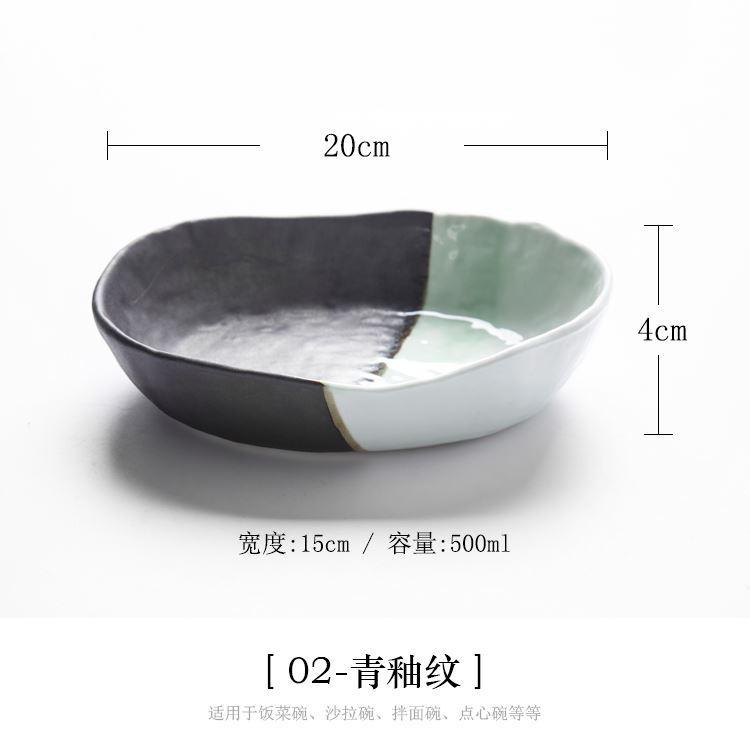 Keramik Yang Dilukis dengan Tangan Mangkuk Mangkuk Mangkuk Sup Jepang Gu Kembali Ke Awal Proses Penembakan