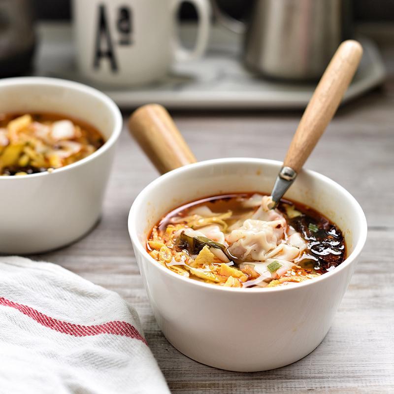 Model Eropa Kreatif Keramik Mangkok Nasi Mangkuk Cemilan Kecil Mangkuk Sup Mangkuk Sarapan Makanan Penutup Mangkok