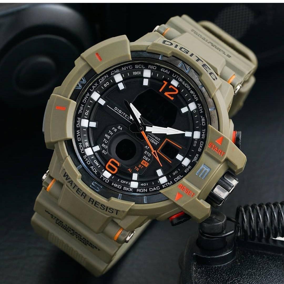 Digitec Jam Tangan Sport Dual Time DG2093T Anty Air
