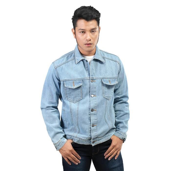 Promo Jaket Jeans Pria Distro - Levis Denim biru - Jaket Murah Fic Original Fashion