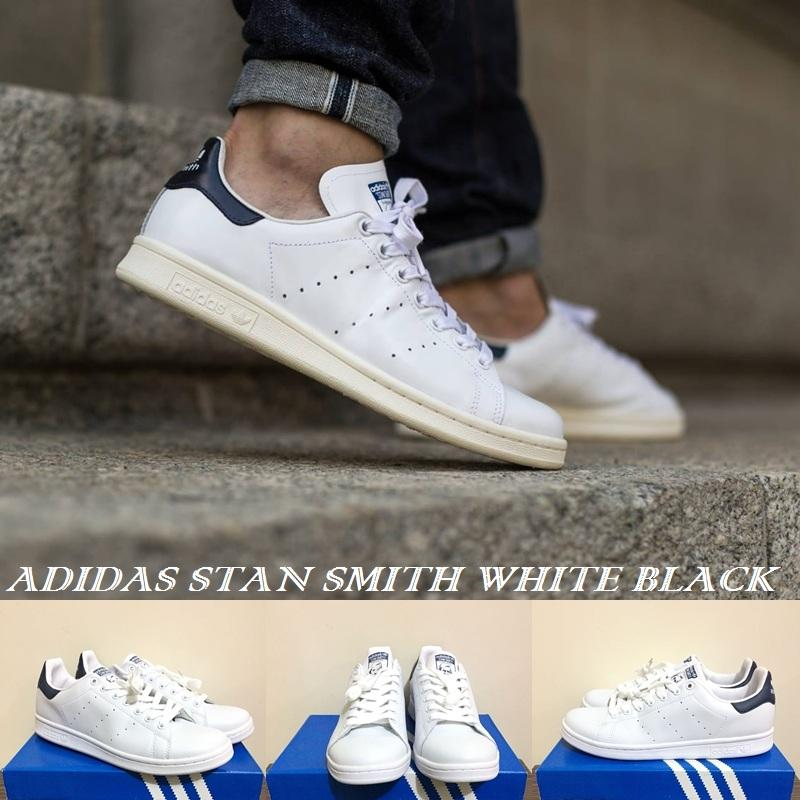 SNEAKERS PRIA !!! ADIDAS STAN SMITH WHITE BLACK
