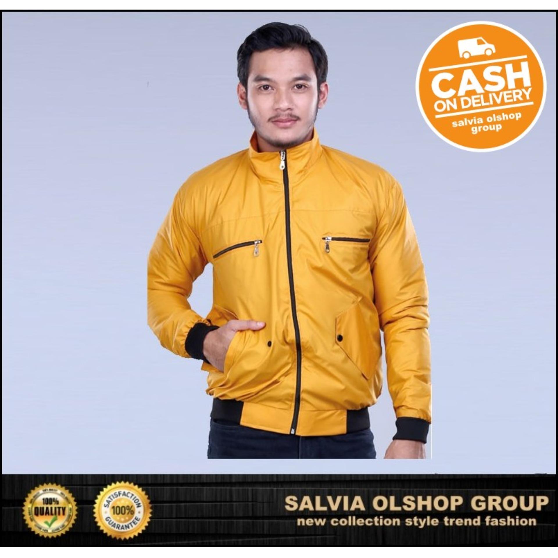 Fashion Jaket Pria Keren Dan Modis Dengan Desain Update FAJ 1772-Kuning