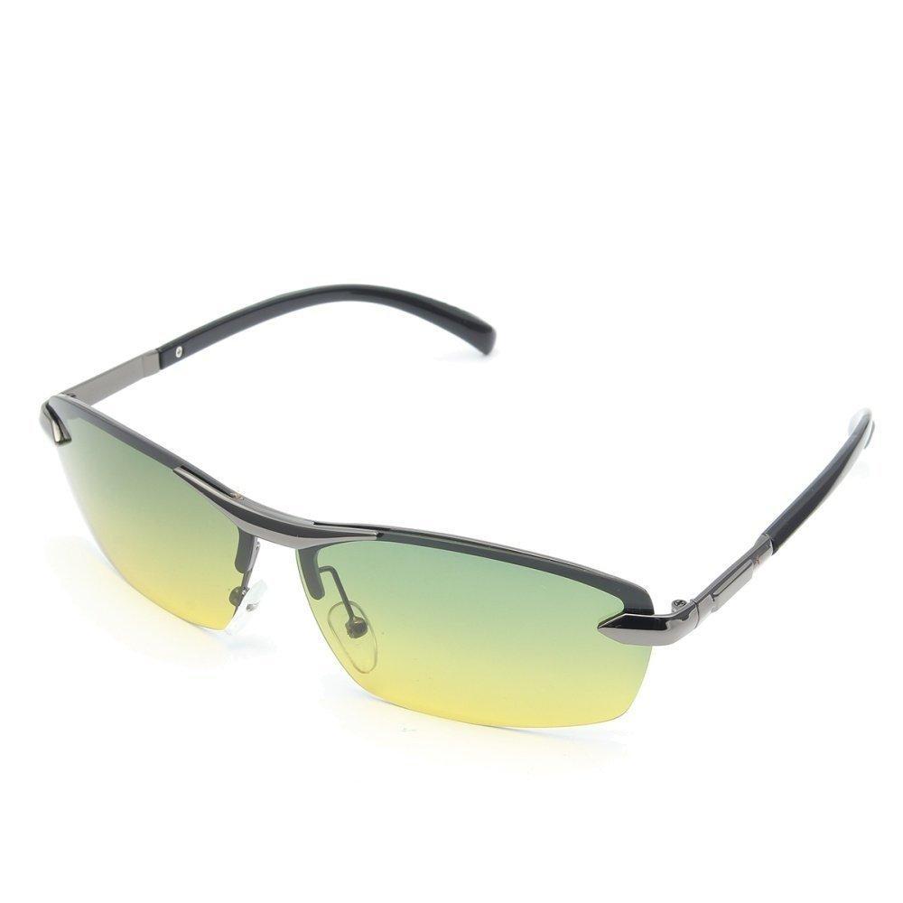 Hari Night Vision Kacamata Hitam Terpolarisasi Pria Mengemudi Pilot Cermin Matahari Kacamata-Internasional