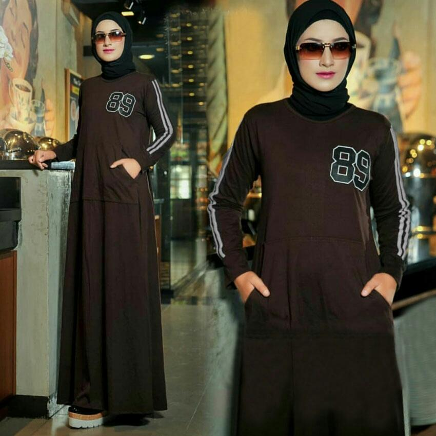 Dress Panjang Anisa - Longdress wanita - Dress wanita muslim - Longdress anak muda - Gamis remaja - Gamis model terbaru - Fashion - SW
