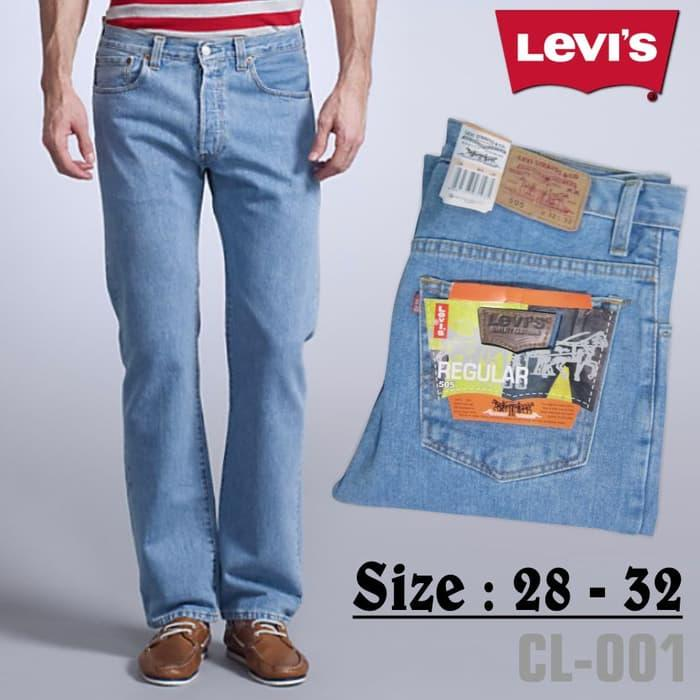 Celana Jeans Pria Levis Model Standar/Regular Bioblitz (Biru Muda) - Celana Jeans Pria Terbaru - Celana Jeans Terlaris - Celana Jeans Pria Keren - jeans import murah