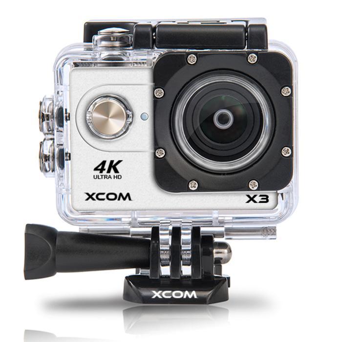 Original Onix XCOM X3 Action Camera 4K HD 16MP SILVER Carton Box + battery 900