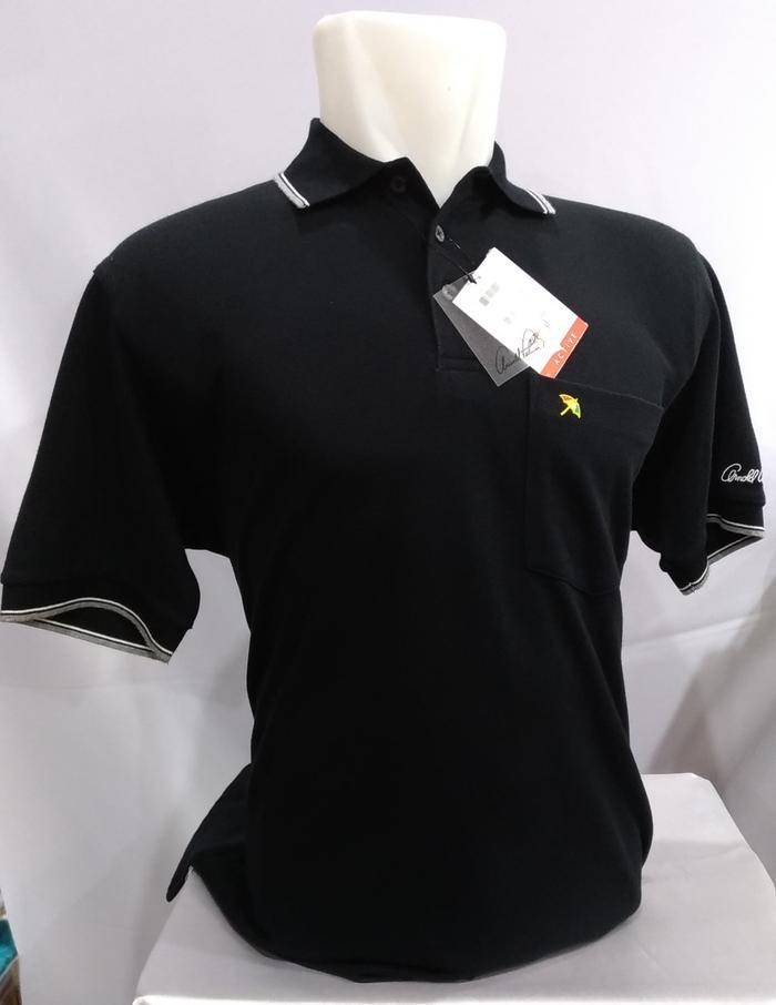 Kaos Kerah Polo Shirt Pria ARNOLD PALMER 100% ORIGINAL MURAH HITAM - Hitam, S