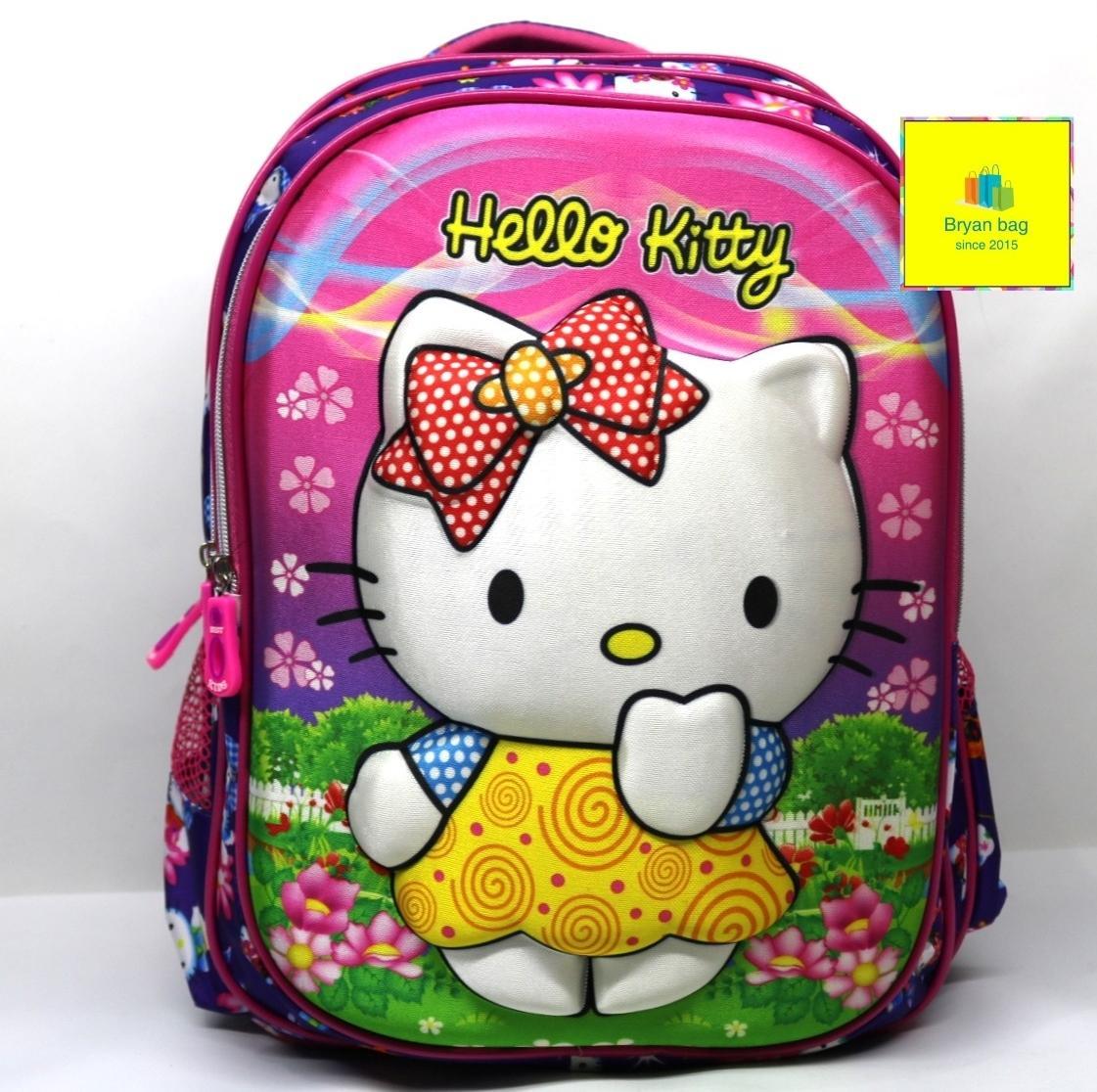 Tas ransel anak sekolah perempuan hello kitty 3 ruang