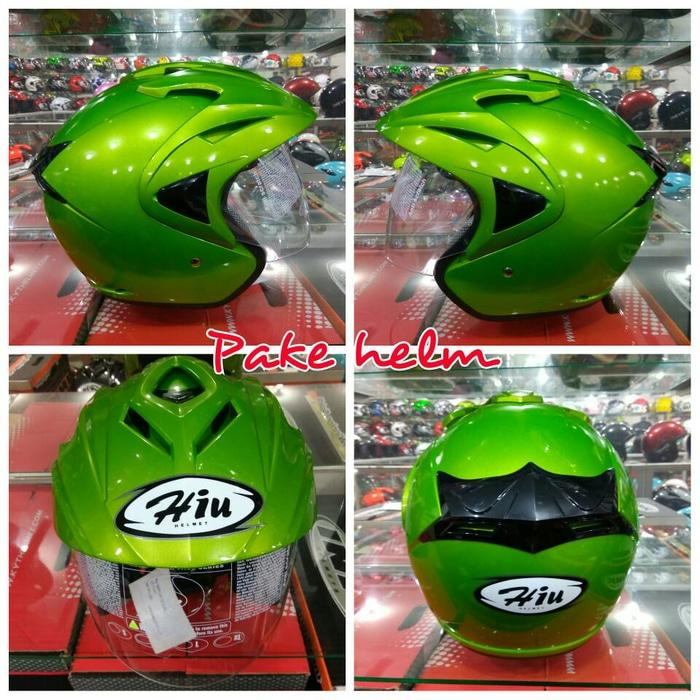 PROMO HELM MURAH BAGUS HIU ARROW LIME GREEN TERLARIS