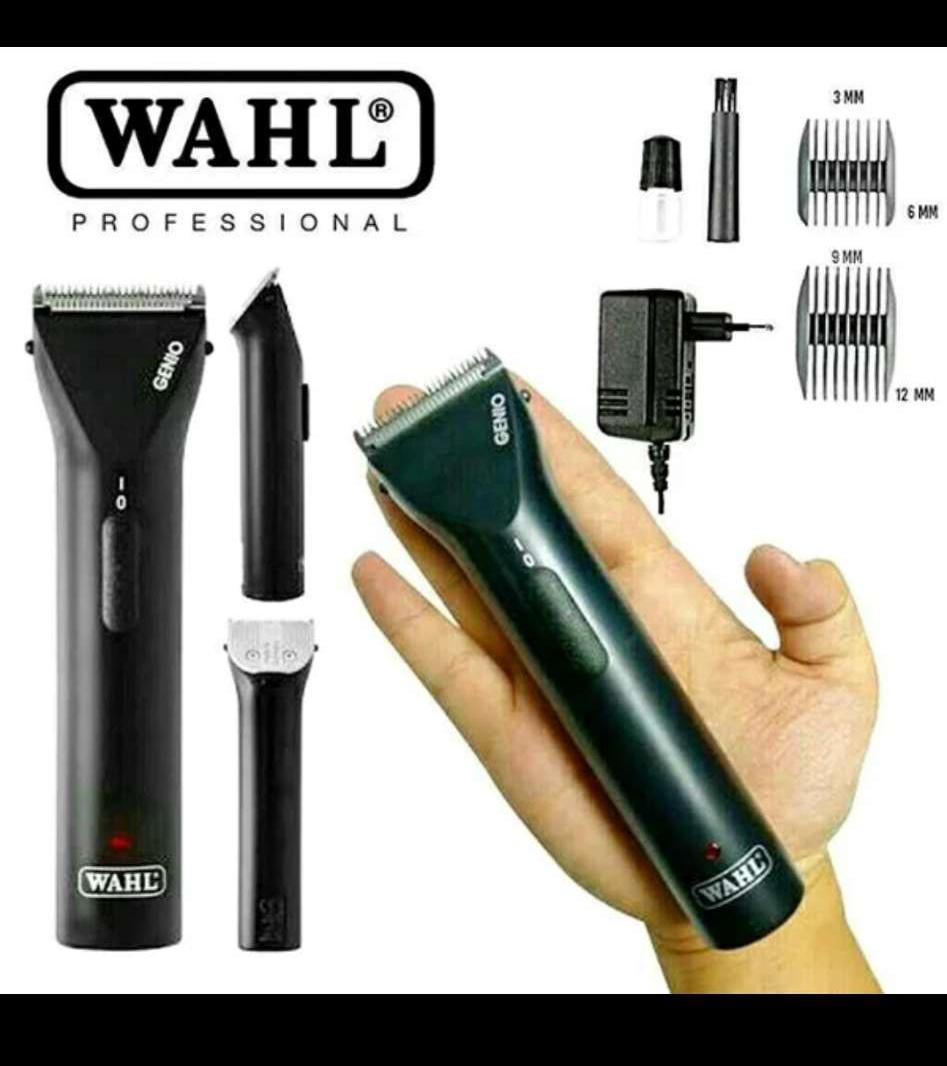 wahl original genio trimmer charger alat mesin cukur cas lisrik tanpa kabel bukan legen megic detailer artist