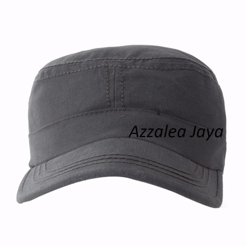 Azzalea Jaya-Topi Pria Polos Komando / Military Canvas Cap-HitamIDR24900. Rp 24.900