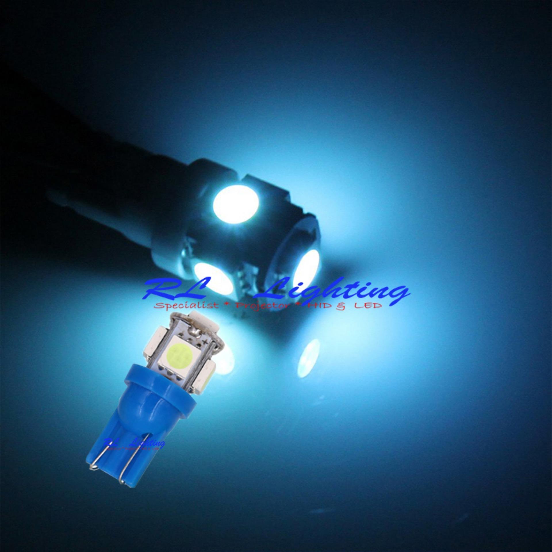 1bh LED Lampu Senja Bola Cucuk Led T10 Ice Blue