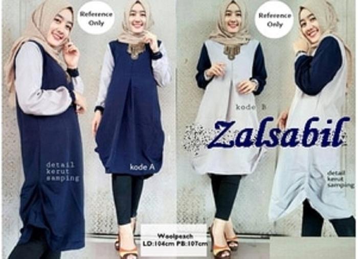 Termurah terlaris Jual ZALSABIL BLOUSE Terbaru / atasan / baju muslim