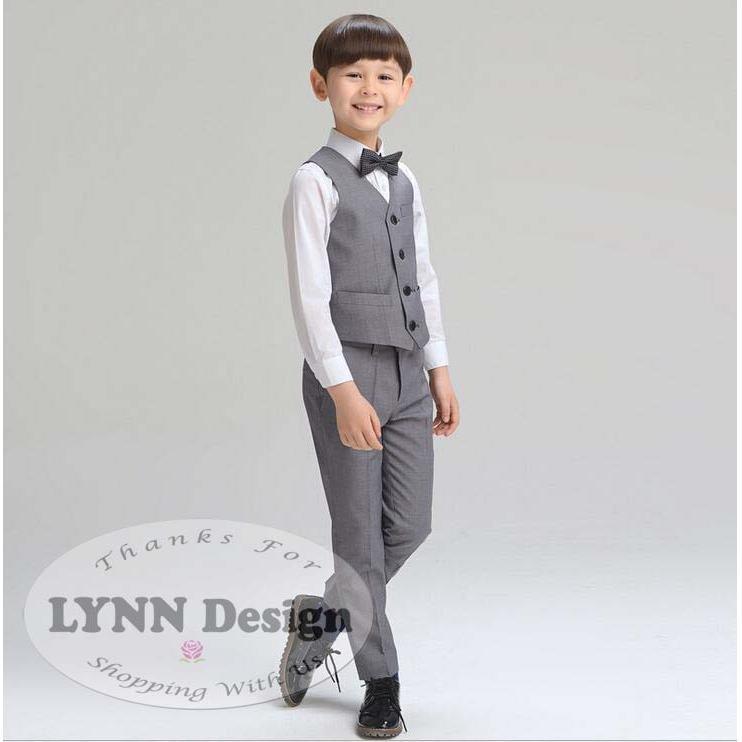 Lynn Design - Setelan tuxedo jas ABU / NAVY BIRU formal anak cowok/ laki laki 2- 11 tahun