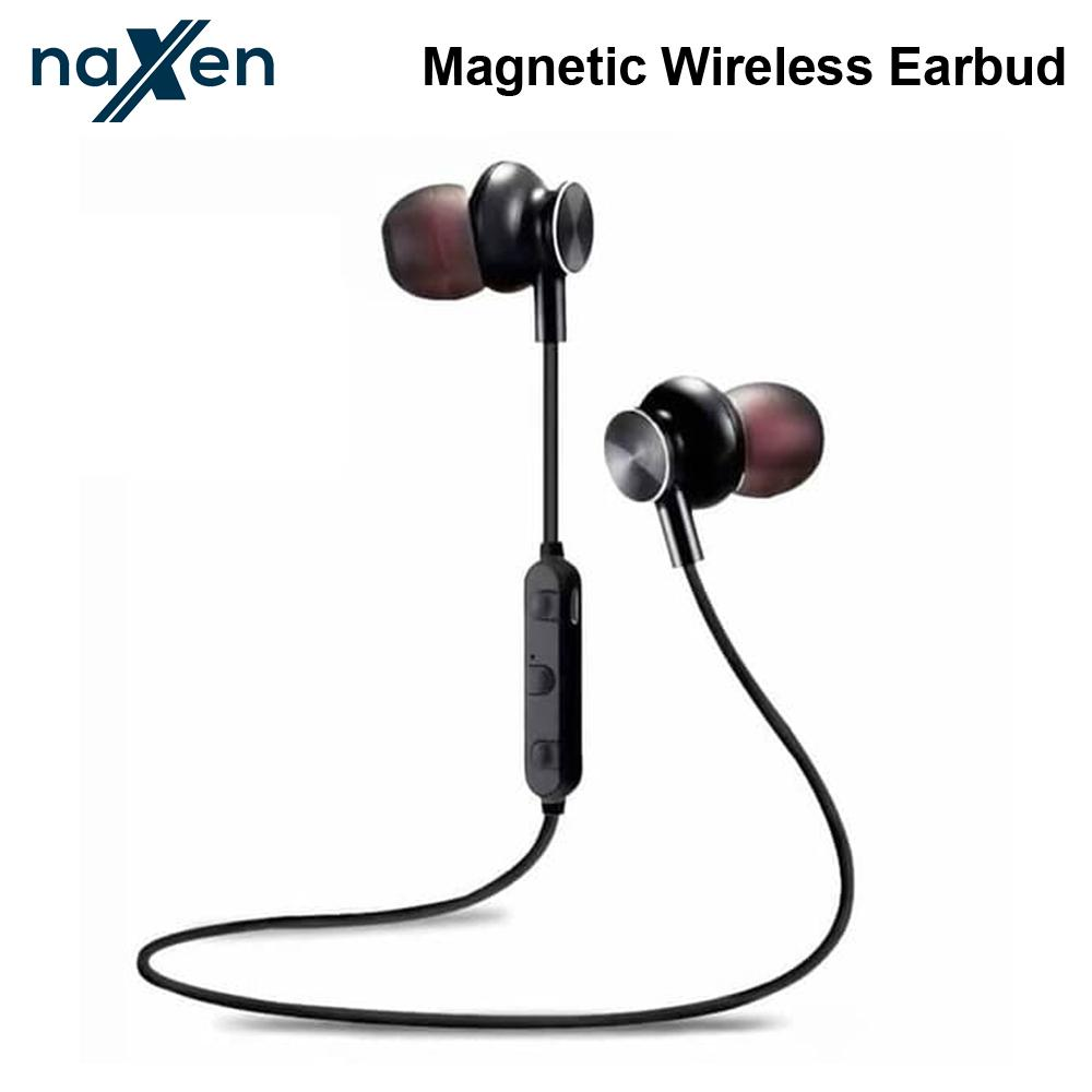 Naxen M6 Magnetic Wireless Bluetooth Earphone Sports Stereo Headset with Microphone Wireless Headphone Mobile Phone