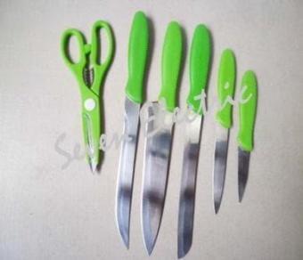 OXONE Rainbow Knife Set Pisau Dapur Warna Warni Stainless Steel OX-606 /Model Terbaru