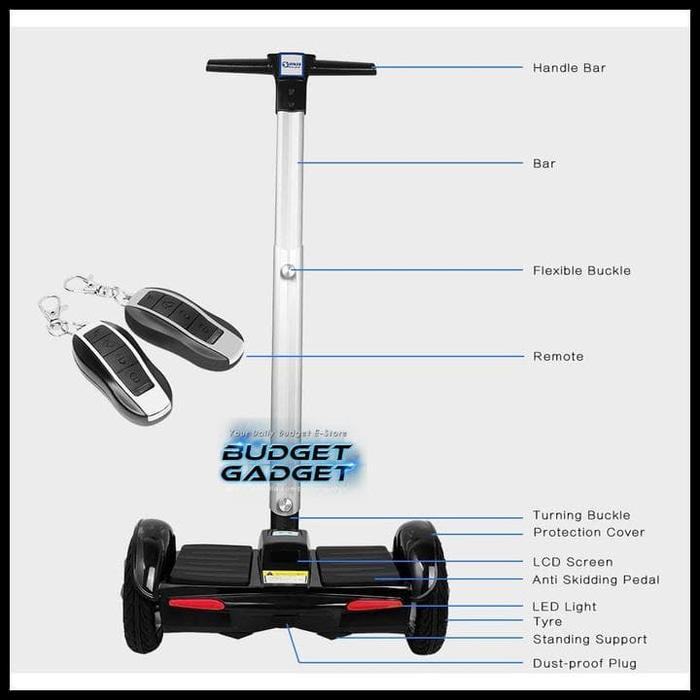 NEW Hoverboard Handle Bar 8 inch Smart Balance Segway Scooter - 7ZR3n6