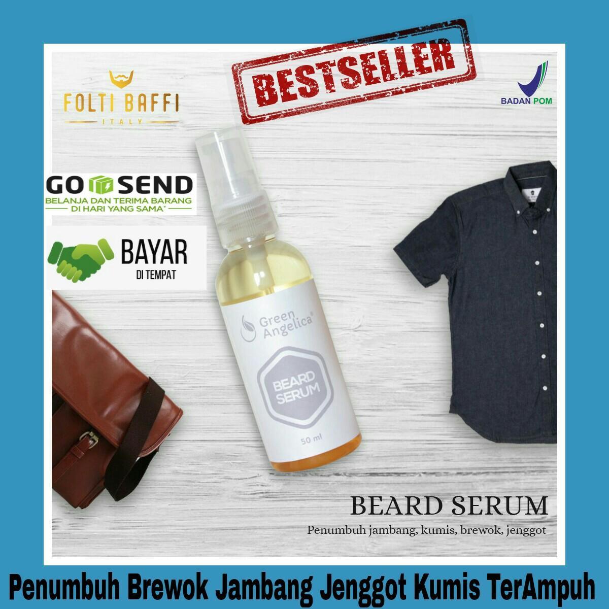 Beard Serum Penumbuh Brewok Jambang Jenggot Kumis & Penebal Alis Ampuh ASLI BPOM
