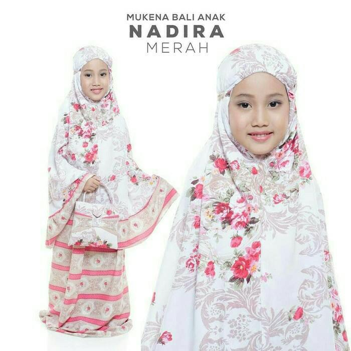 Terbaru Auraa_Shop Mukena Katun Rayon Nadhira Anak Mukena Dewasa Fashion Muslim Murah ()