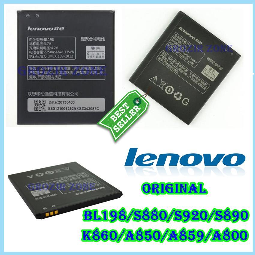 Lenovo Baterai / Battery BL198 For Lenovo S880 / S920 / S890 / K860 / A850 / A859 / A800 Original - Kapasitas 2250mAh ( Grozir Zone )