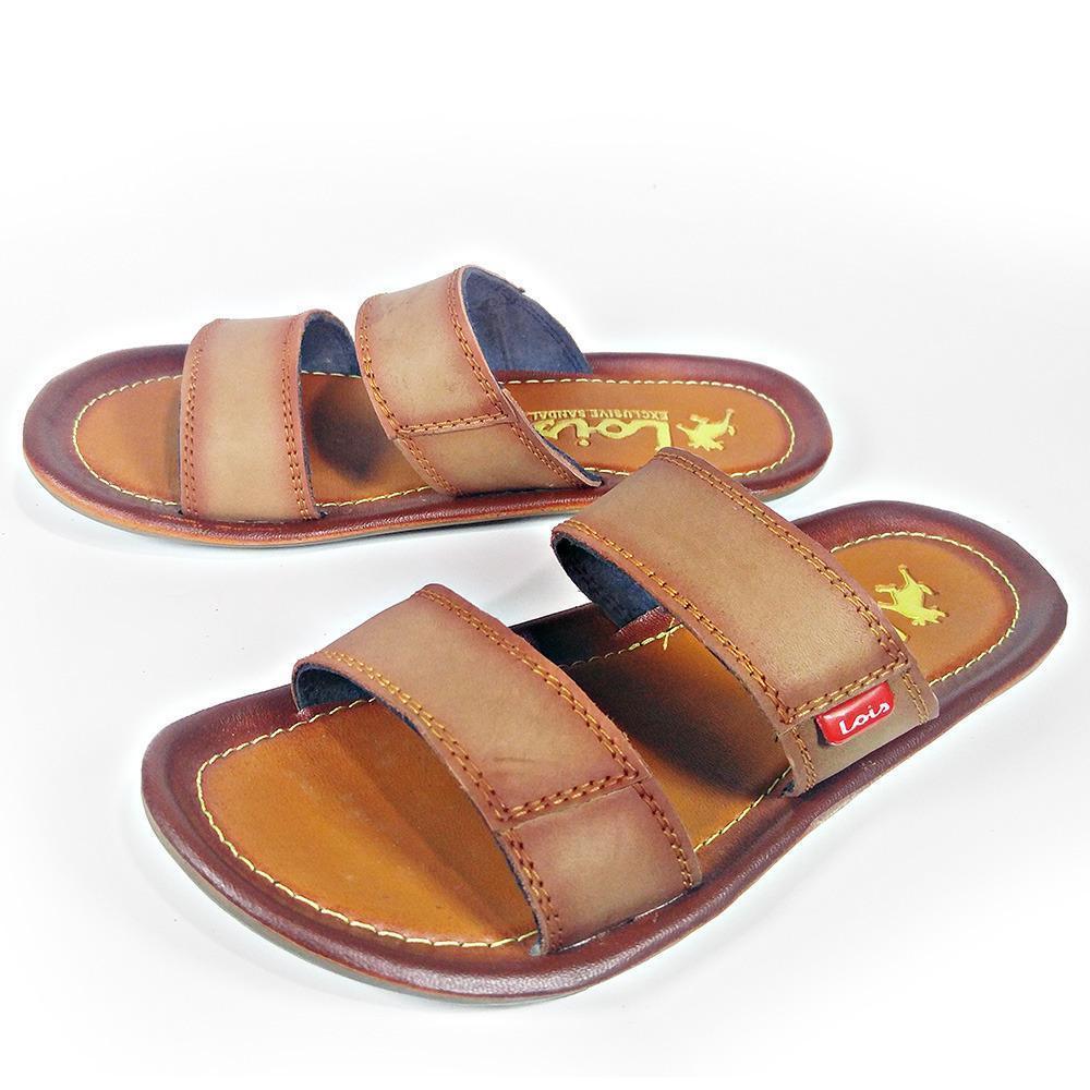 Hazel Al Zada - Fashion Sandal Kulit Pria Ban 2 Slop - Mocca d62adaea0a