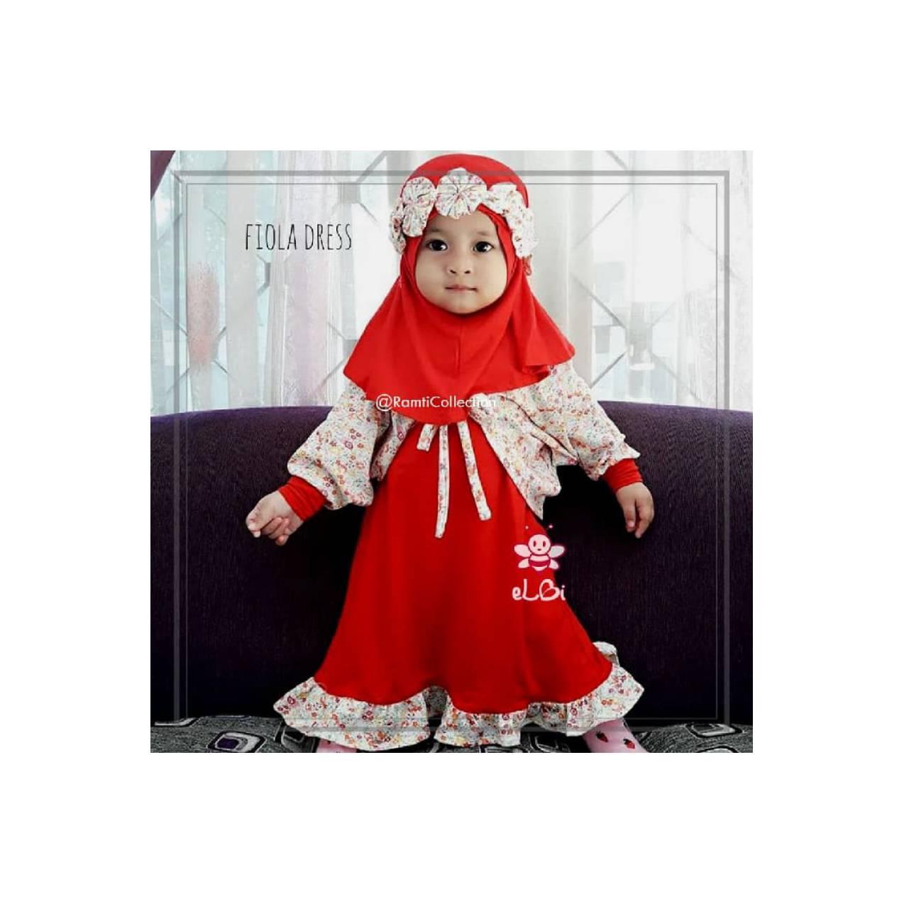 jual baju anak murah Surabaya I setelan gamis dan hijab anak I Fiola