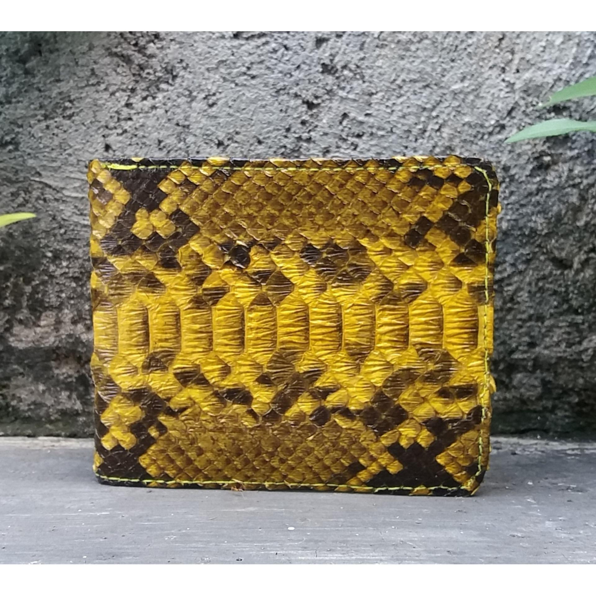 Harga Jual Dompet Pria Asli Kulit Ular Phyton Sanca Model Bifold Wallet Mens Import Branded  Ragazzo Dkr 006