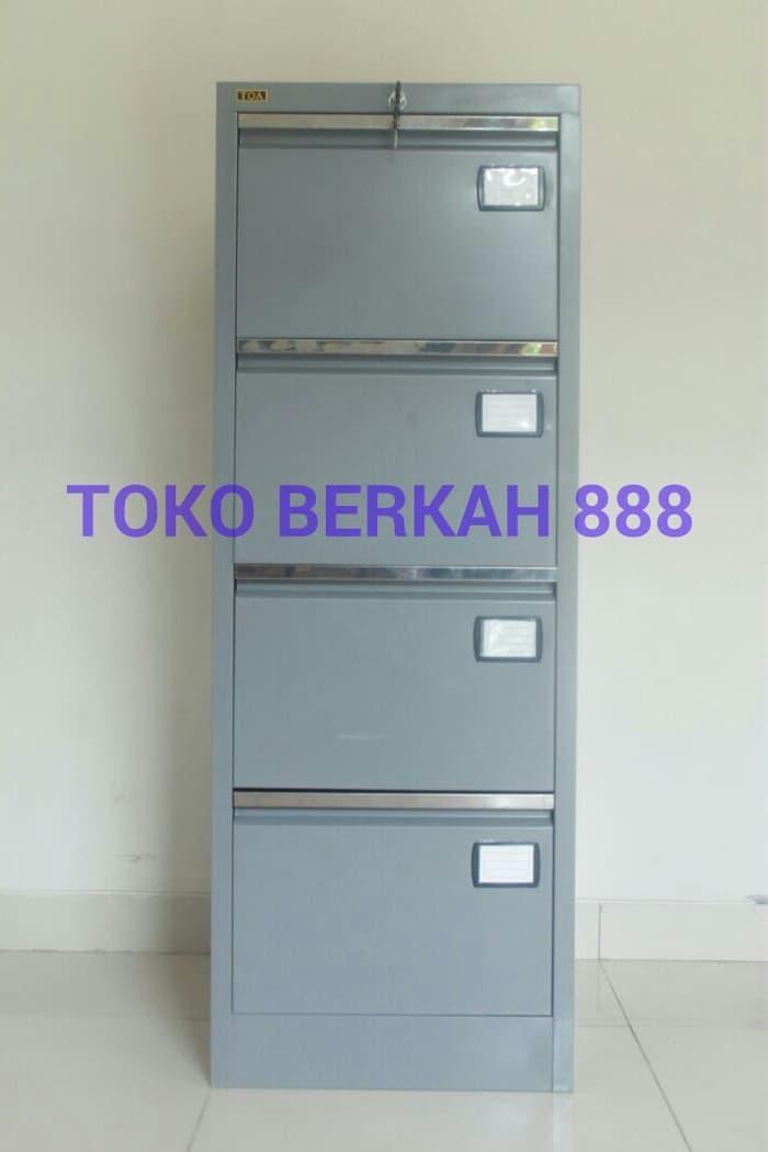 Promo   Filing Cabinet T704 4 Laci, Rak Besi, Lemari Besi, File, Lemari Kantor   Original