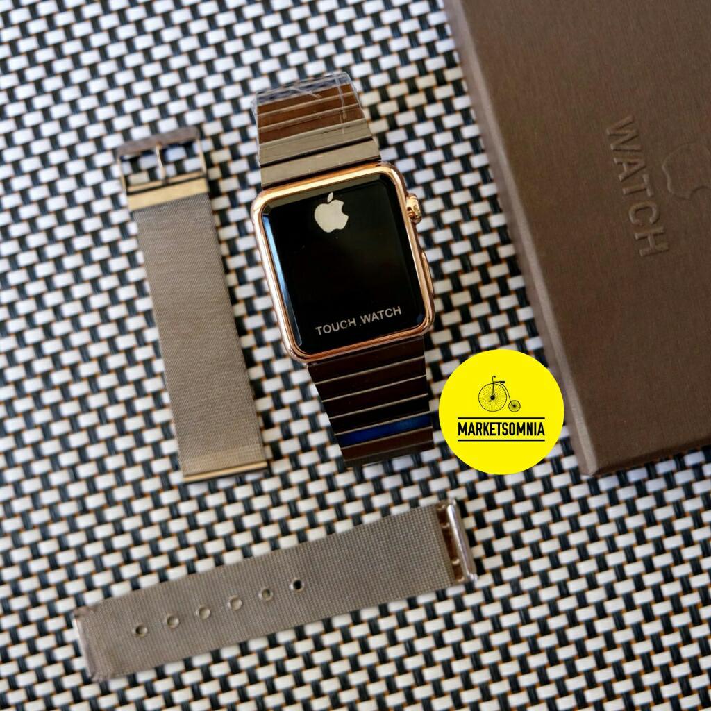 Jam Tangan Led Jam Tangan Pria Dan Wanita Strap Karet Merah Applered Source · Jam Tangan Unisex Apple Set Digital Stainless Rantai Black Gold