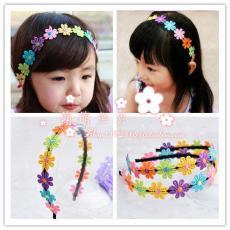 Musim semi jepit rambut bunga anak-anak ornamen Hiasan Rambut bando anak prempuan anak perempuan