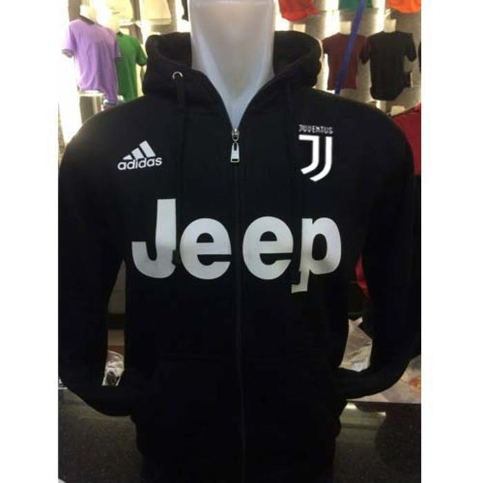 Jaket Hoodie Bola Juventus J-211 Hitam Polos Resleting - SjEz0w