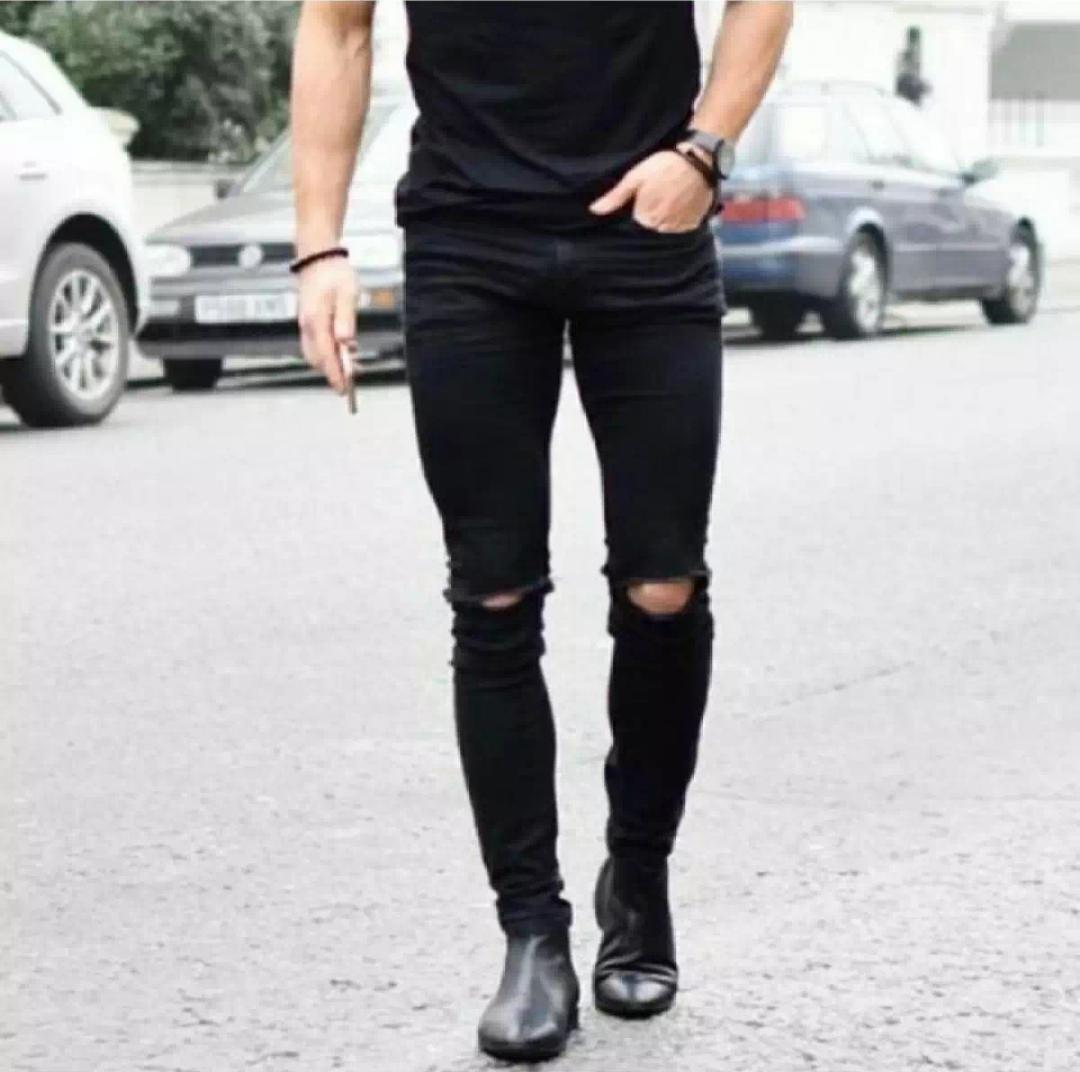 WIKIE CLOTHING / / Celana Jeans Pria Slim Fit / Skinny Jeans - Hitam [Produk Category Celana Jeans Pria / Jeans Strecth /Jeans Pria Sobek / Jeans Pria Ripped