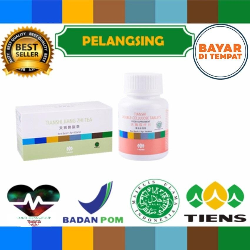 Pelangsing herbal tiens jiang zie tea + double cellulose